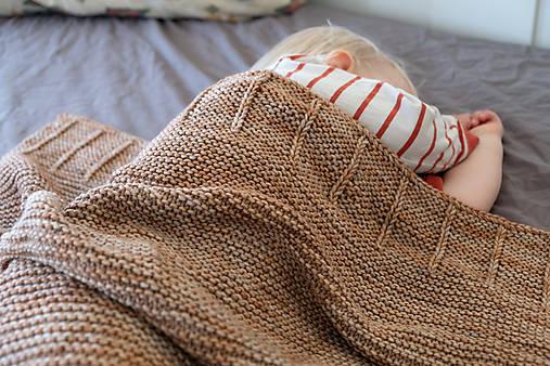Baby deka LEYA do kočíka či postieľky, 100% merino