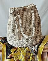 Kabelky - Kabelka/taška z kvalitných šnúr Gabi Elegant - vyskladaj si kabelku  (Kabelka/taška z kvalitných šnúr Gabi Elegant - vyskladaj si kabelku - prírodná (natural)) - 12242321_