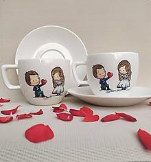 Nádoby - Šálky pre novomanželov, láska - 12243263_