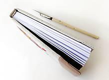 Papiernictvo - Vyšívaný zápisník Hnedý kruh - A6 - 12242032_