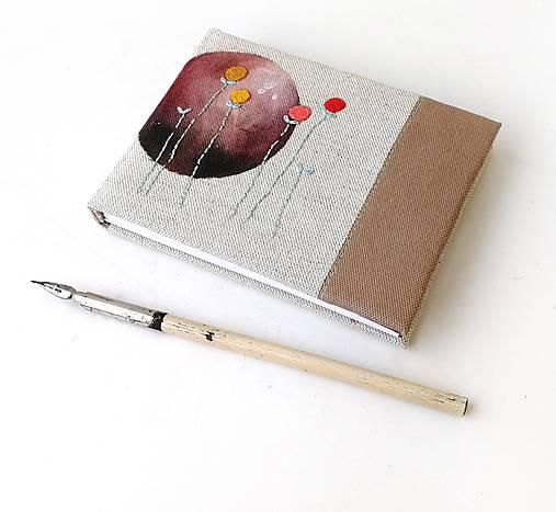 Vyšívaný zápisník Hnedý kruh - A6