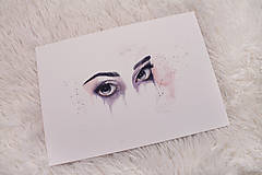 Obrazy - Art Print štúdia očí - 12242038_