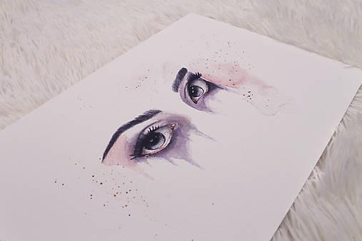 Art Print štúdia očí