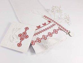 Textil - Darčekový set pre dievčatko - folk vyšívaný - 12242631_