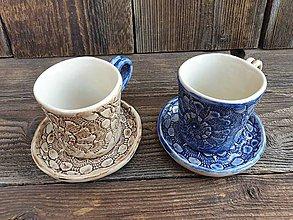 Nádoby - Espresso šálka + tanierik Sedmikráska 100 ml - 12244431_