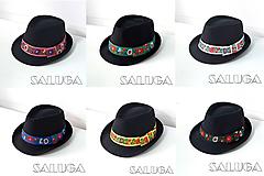 Čiapky - Folklórny klobúk - čierny - ľudový klobúk - č.58 - 12244989_