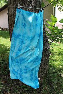 Šály - silk carf_hodvábna šála 180x45cm batika - 12244699_