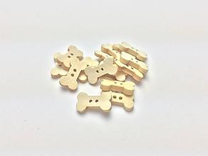 Galantéria - Drevené kostičky - gombík - 12244052_