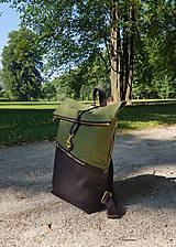 Batohy - Batoh Rolltop - Take me out (100% bavlnený kanvas + dubový korok) - 12244308_