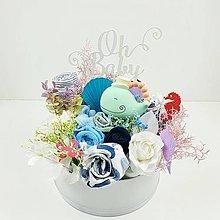 Detské doplnky - Plienková torta-box-Pod morskou hladinou - 12244846_