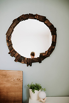 Zrkadlá - Zrkadlo kruhové z kúskov. - 12247538_