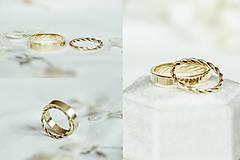 Prstene - Zlaté filigránové obrúčky (žlté) - Splynutie - 12246168_