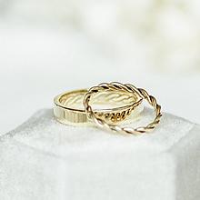 Prstene - Zlaté filigránové obrúčky (žlté) - Splynutie - 12246176_