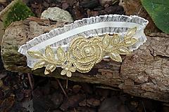 svadobný podväzok Ivory - zlatá ruža