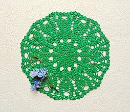 Úžitkový textil - Zelená háčkovaná dečka - 12249222_
