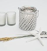 Svietidlá a sviečky - Pastelové svietniky (Sivá) - 12247726_