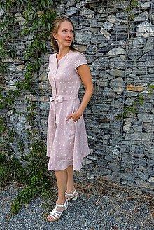 Šaty - Nežné, letné, ľanové šaty - 12248830_