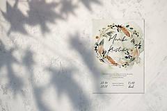 Papiernictvo - svadobné oznámenie 012, Boho - 12248236_