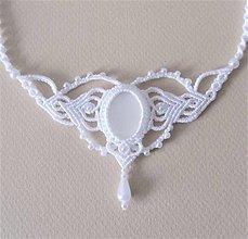 Náhrdelníky - Macramé náhrdelník White - 12247134_