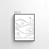 Grafika - Podzim (černobílá) - 12246344_