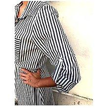 Šaty - Ľanové šaty - 12248581_