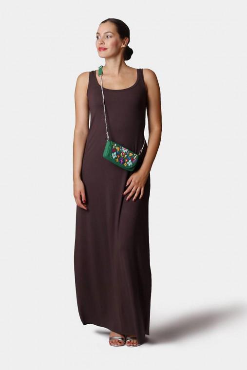 Šaty - Šaty dlhé voľné hnedé - 12252787_