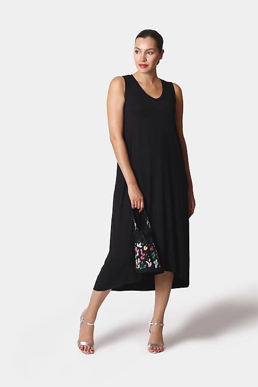 Šaty - Šaty asymetrické midi voľné - 12252923_