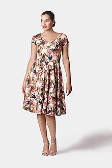 Šaty - Šaty midi vzorované - 12252700_