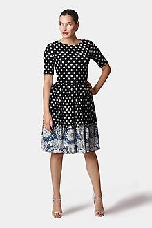 Šaty - Šaty čierne s bordúrou - 12252750_