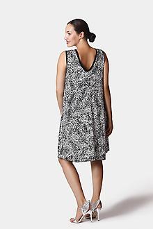 Šaty - Šaty voľné čierno biele - 12252857_