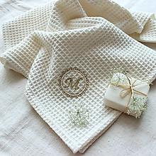 Úžitkový textil - Uterák s monogramom (veľ.M) - 12252355_