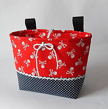Detské tašky - Košík / taška na bicykel - BikeBag pirát - 12251628_