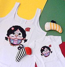 Tričká - Set tričiek  - dámske tielko + body pre dieťa ♥ - OčiPuči mámnaháku Čičianko - 12252185_