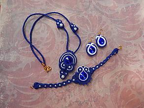 Sady šperkov - Kráľovská-modrá sada - 12250737_