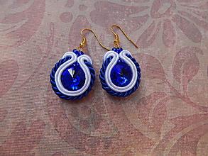 Náušnice - Osviežujúce modré - 12250817_