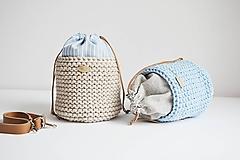 Košíky - Pletený košík s vreckom 2v1 - 12250198_
