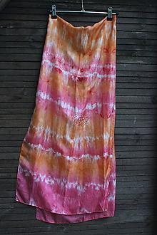 Šály - silk carf_hodvábna šála 180x45cm batika - 12249790_