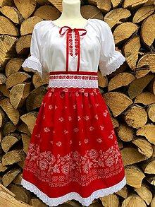 Šaty - Folklórny dámsky kroj červený - 12250850_