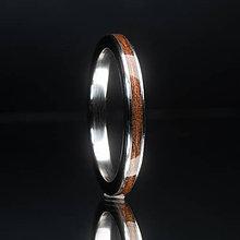 Prstene - Makore Titanium - 12249968_