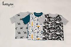 Detské oblečenie - Sada troch chlapčenských tričiek - 12249777_