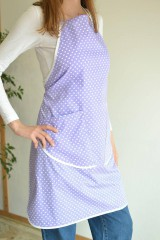 Iné oblečenie - fialová zástera (2 vrecká) - 12249858_