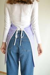 Iné oblečenie - fialová zástera (2 vrecká) - 12249860_