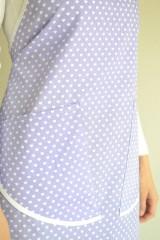 Iné oblečenie - fialová zástera (2 vrecká) - 12249861_