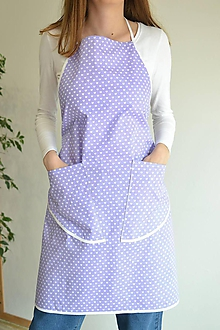 Iné oblečenie - fialová zástera (2 vrecká) - 12249856_
