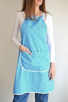 Iné oblečenie - modrá zástera - 12249960_