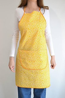 Iné oblečenie - žltá zástera (1 vrecko) - 12250035_