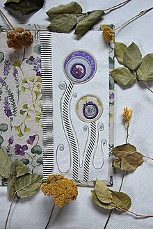 Úžitkový textil - Štóla - aplikácia kvetov - 12252640_