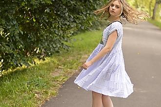 Šaty - Bavlnené dievčenské šaty. - 12254145_