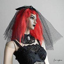 Ozdoby do vlasov - Gotický francúzsky závoj - 12255308_