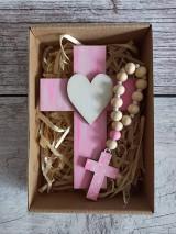 Set krížik a ruženec - ružová dúha